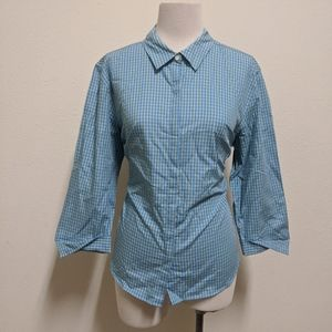 3for$20 blue yellow button down